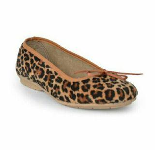Bailarinas Lazo Leopardo Marrón