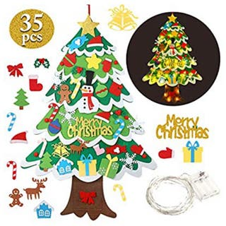 Árbol de Navidad de fieltro