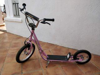 Scooter patinete rosa buen estado navidad