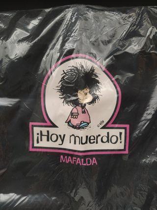 Bolsa Shopper Negra Mafalda