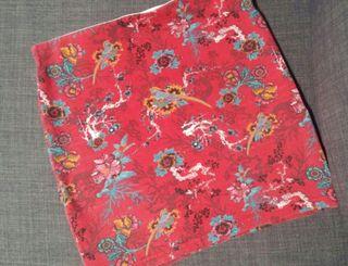 Falda roja corta Pull&Bear de mujer