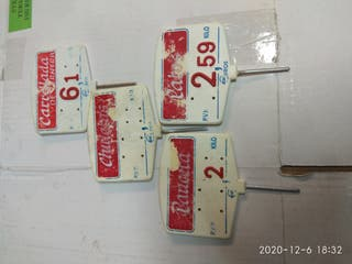 porta precios carnicería pvc