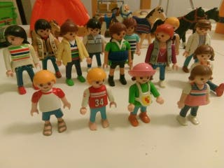 Lote de Playmobil: clicks, caballos, coche, etc...