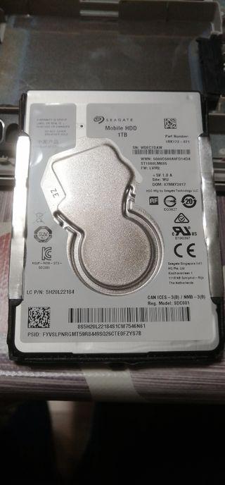 """Disco duro interno Seagate HDD 1 TB 2.5"""""""