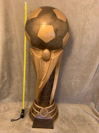 Resin football trophy