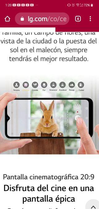smartphone en caja precintado LG k41S 3ram/32rom