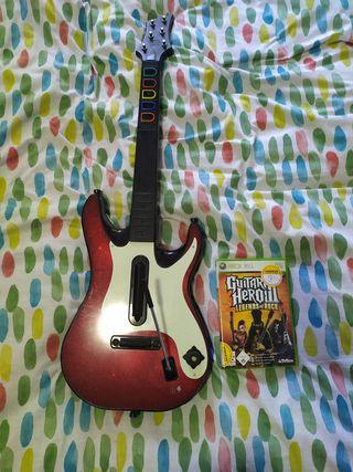 Guitarra + guitar Hero Xbox 360