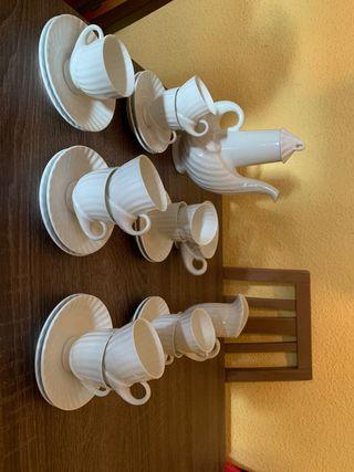 Juego de café de 11 servicios de Sargadelos.