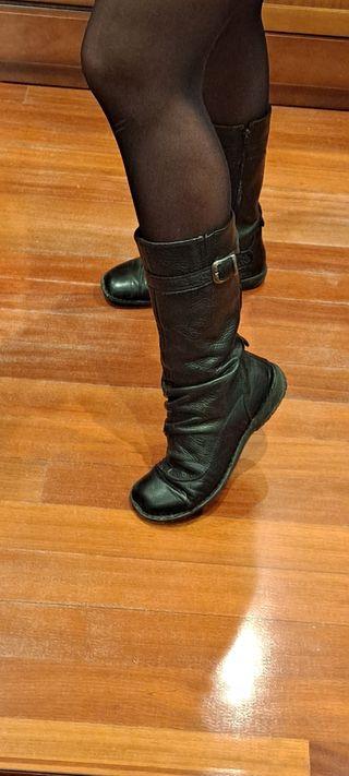 Botas bajas Porronet de piel negra suave