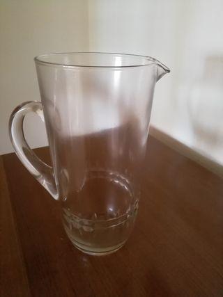 jarra cristal tallado antigua
