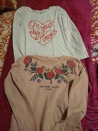 camisetas niña talla 9/10 lote impecable