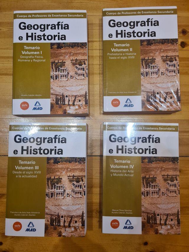 Temario oposición secundaria Geografía e Historia