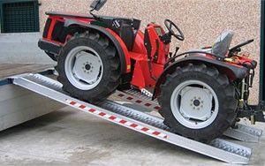 Rampas de aluminio tractor toritos carretillas