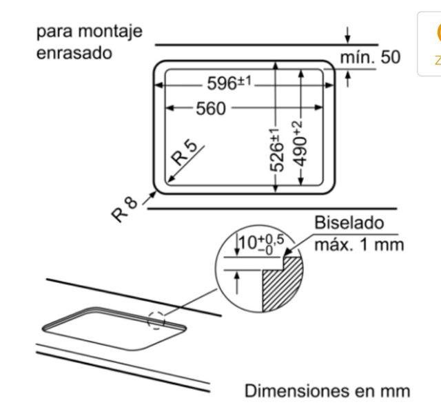 encimera de gas autoencendido y cristal templado