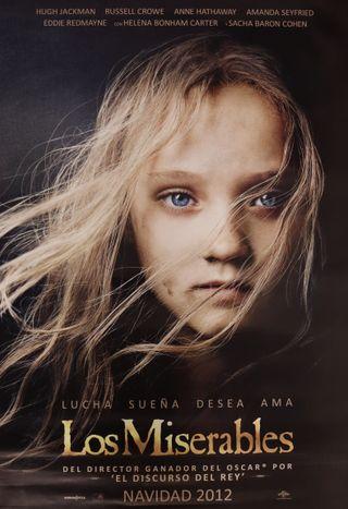 Cartel de cine Los miserables
