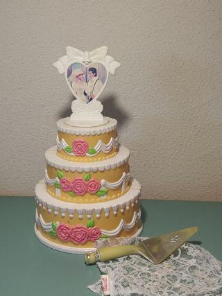tarta boda Barbie antigua 90s / juguete colección