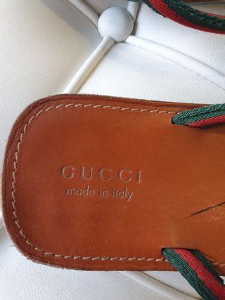 Chanclas de piel Gucci HOMBRE