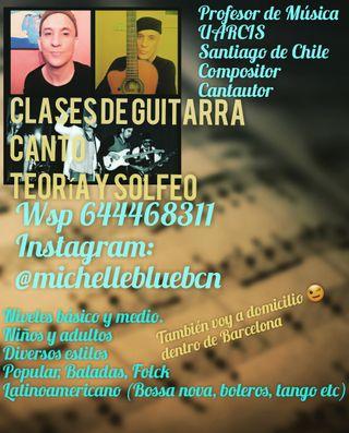 Clases de Guitarra, Canto, Teoria y Solfeo