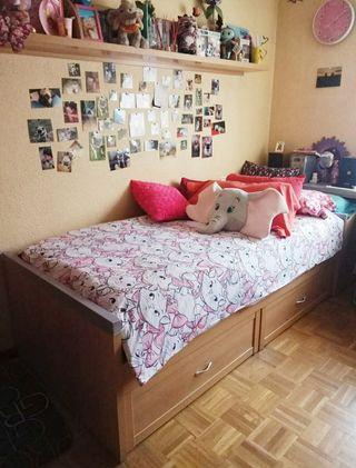 cama 90 más encimera escritorio