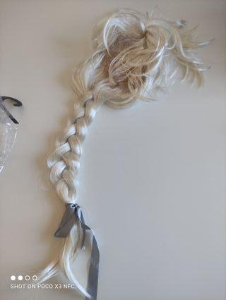 Disfraz peluca Elsa Frozen como nuevo
