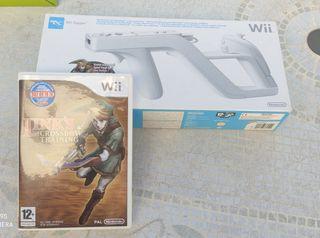 Zapper y juego Wii Link's crossbow training