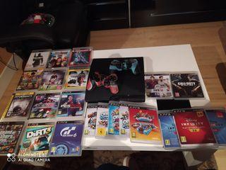PS3 + 14 juegos y demas