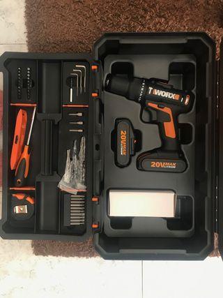 Taladro con caja de herramientas Worx