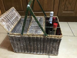 Cesta picnic original años 60