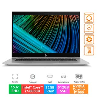 HP ZBook Studio G5 - i7 - 32GB - 512GB - P1000