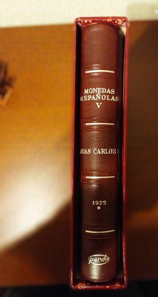 Album Monedas Españolas 1975-1992. Pardo