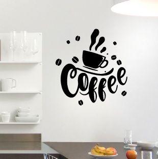 Vinilo pegatina cafe