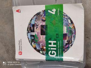 libro de geografía historia del 4