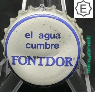 Chapa o tapón corona de Agua Fontdor