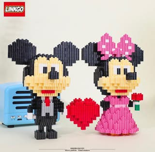 Mini bloques Mickey & Minnie Mouse