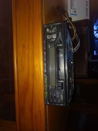radio cassette JVC con adaptador de CD