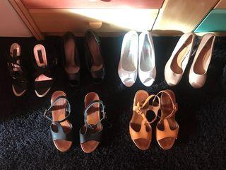 Lote 6 pares zapatos