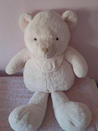 Peluche oso rosa grande con babero