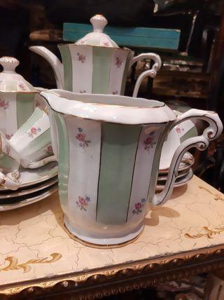 Juego de café de porcelana Royal Gijón