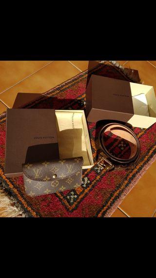 Cinturón y Billetera Louis Vuitton