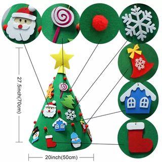 Árbol de Navidad de fieltro cónico