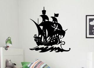 Vinilo pegatina barco pirata