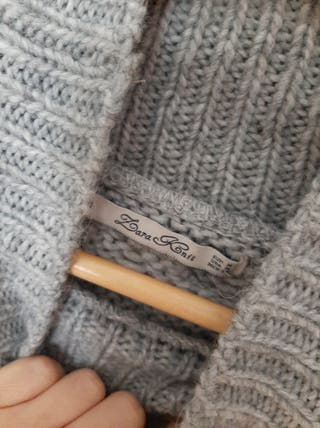 Jersey de punto gris Zara