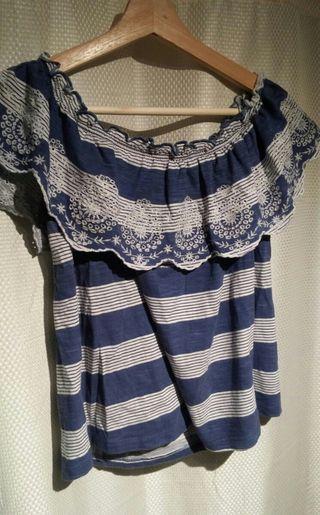 Blusa azul de mujer S