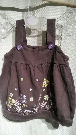 Vestido de niña marrón de 6 meses