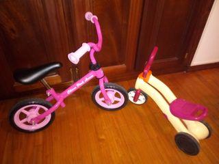 Bicicleta y correpasillos