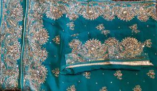Turquoise Blue Saree