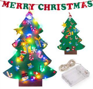 Árbol de Navidad de Fieltro 26pcs Árbol de Navidad