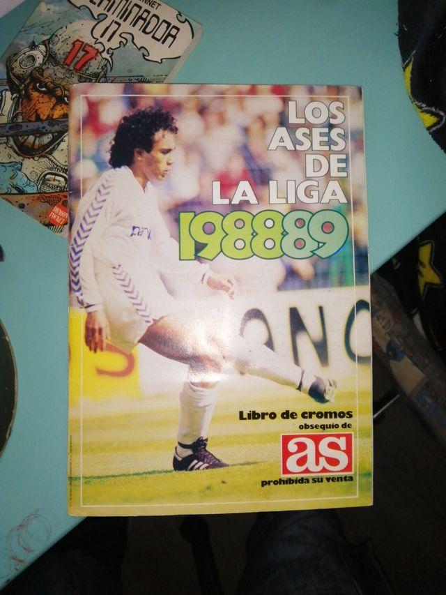 album cromos ases de la liga 1988