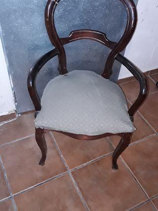 Sillon antiguo estilo victoriano inglés