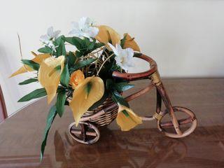 Bicicleta de mimbre